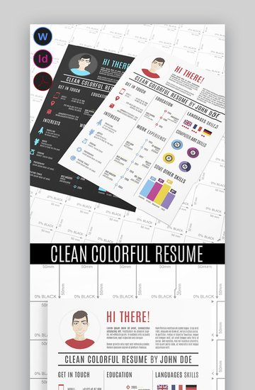 Clean Colorful Resume