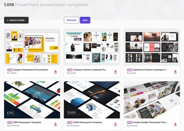PowerPoint Designs on Elements