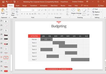 Budget Slide Example