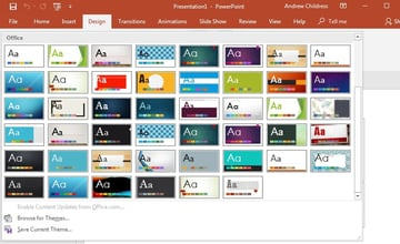 Built in PowerPoint Themes