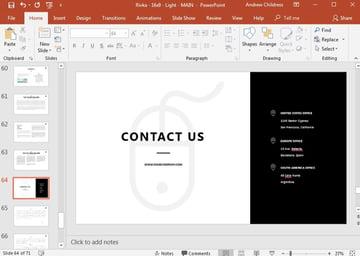 Contact Slide