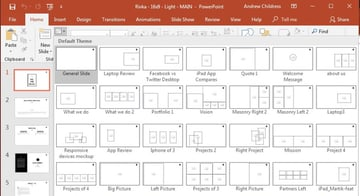 PowerPoint Layouts listing