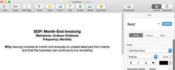 SOP Invoicing