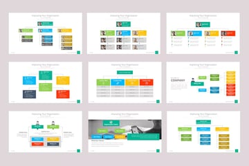 Org charts in PowerPoint template