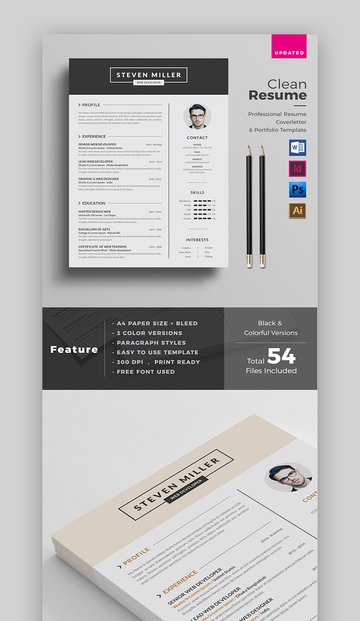 Bold and Clean Resume Template