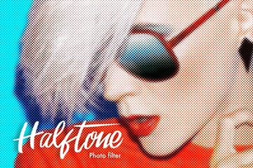 Halftone Photo Filter Action