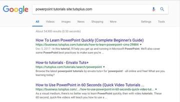 Site level search in Google