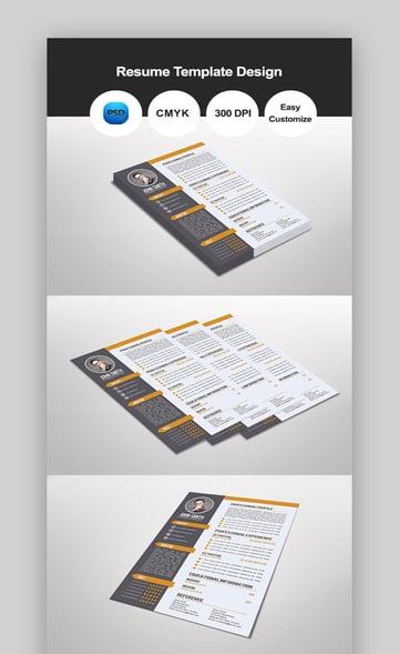 Dunlea Resume Template Design