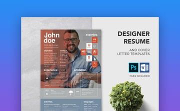 Designer Resume  Cover Letter Template