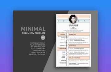 Minimal Resume Template