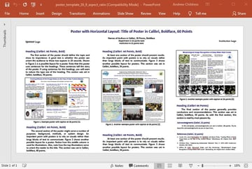Craft of Scientific Poster Template