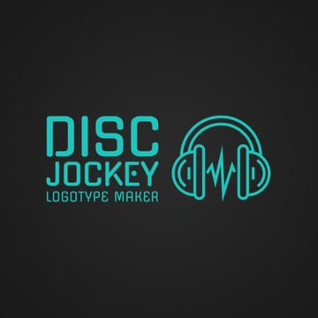 DJ Logo Maker with Headphone Icon