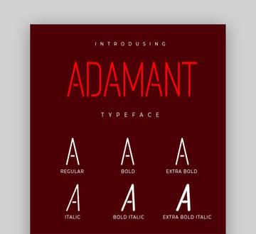Adamant Typeface