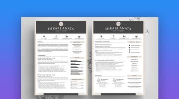Simple Resume Template Anata