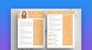 Clean Resume Template Blair