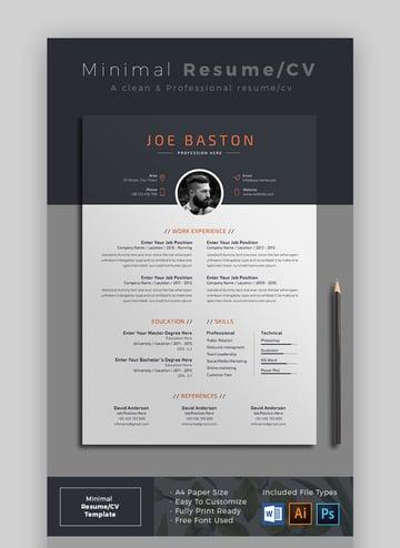 Minimal Resume CV