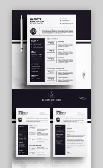 Black and White Bold Resume