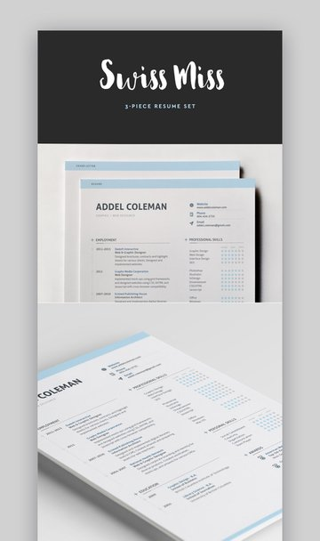 Swiss Resume with Infographic Skills Section