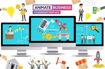 Animate Business PowerPoint Template