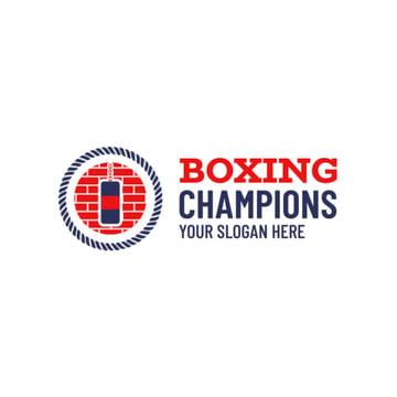 Boxing Gym Logo with Punching Bag