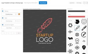 Logo template for startups