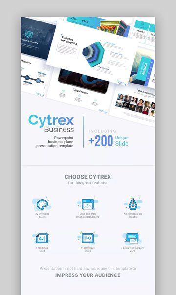 Cytrex Business Plan PowerPoint Template