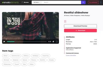 Restful Slideshow on Envato Elements