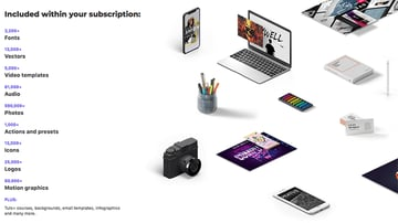 Elements included with subscription