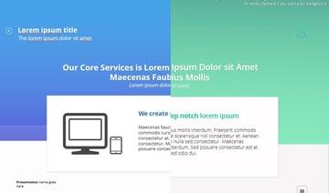 Farbthemen - Die X Note Unternehmenspräsentationsvorlage