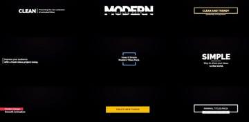 Modern Title Templates for Final Cut Pro