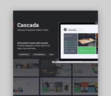Cascada Simple PowerPoint Theme