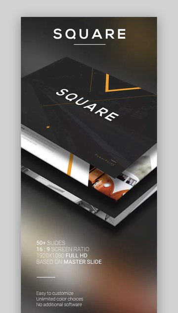 Square Modern Download Template PPT Simple