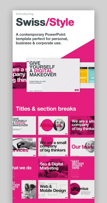 Swiss Minimal Simple PowerPoint Background