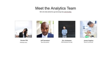 Meet the analytics team