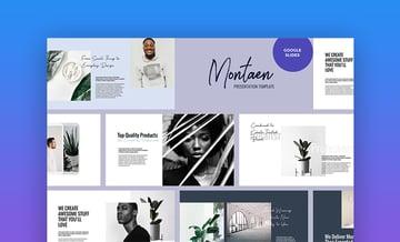 Montaen simple Google Slides theme