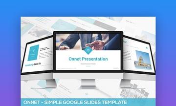 Onnet Simple Google Slides