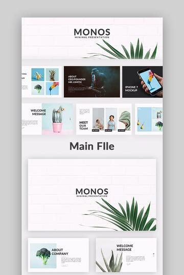Monos Minimal Google Slide