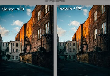 Clarity Version versus Texture Version
