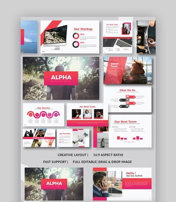 Template with best colors for PowerPoint