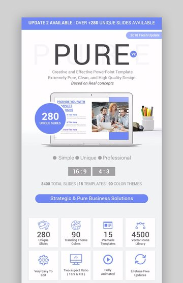 Pure Business Infographic Template PowerPoint