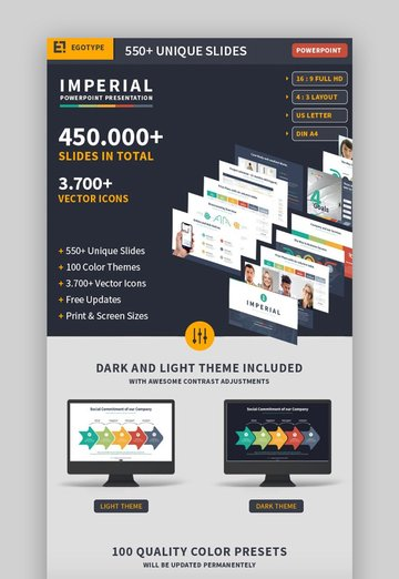 Imperial Infographic Template PowerPoint