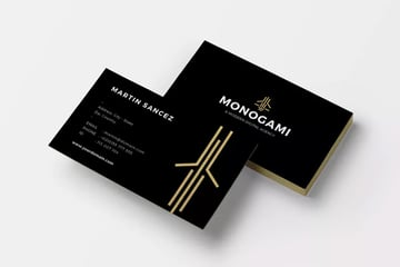 Monogram digital business card free template