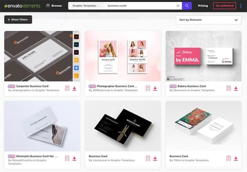 Envato Elements Electronic Business card
