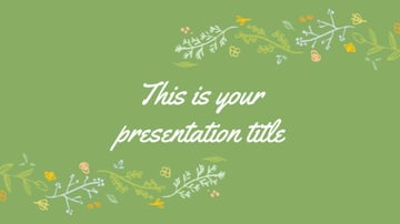 Spring Plant PowerPoint Template