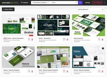 Premium PowerPoint Templates Nature Themes
