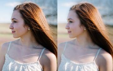 Portrait negative adjustment