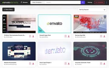 Envato Elements library