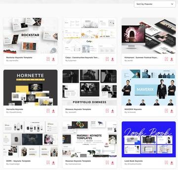 Elements Keynote Presentation Templates