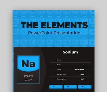 The Elements modern PowerPoint templates
