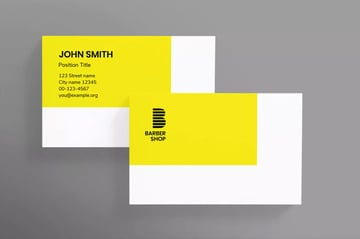 Template for making a business card in photoshop